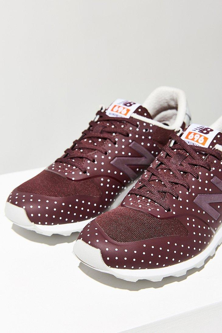 New Balance 696 Reengineered Polka Dot Running Sneaker in Brown - Lyst
