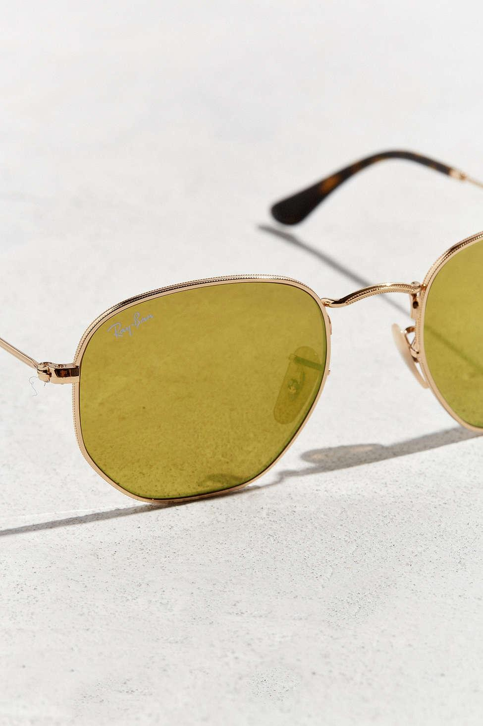 6947de492c Ray-ban Hexagonal Flat Lens Sunglasses