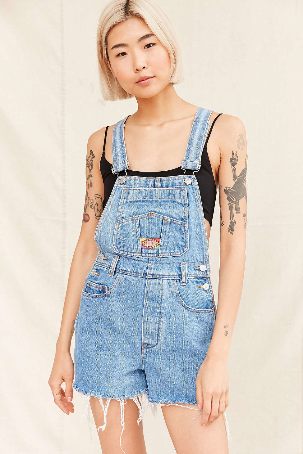 395ac510cc Lyst - Urban Renewal Recycled 90 s Shortall Overall in Blue