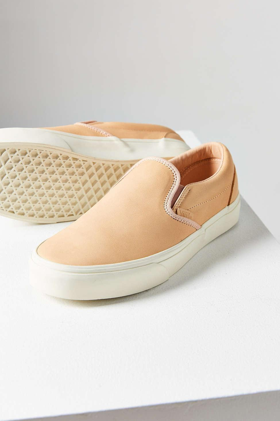 dadb646504 Lyst - Vans Veggie Tan Leather Classic Slip-on Sneaker