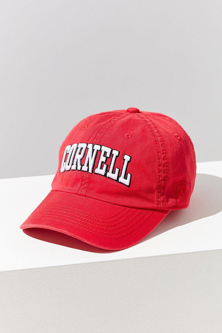 532ecd45af0 Lyst urban outfitters cornell crew baseball hat in red jpg 730x1095 Cornell  hat