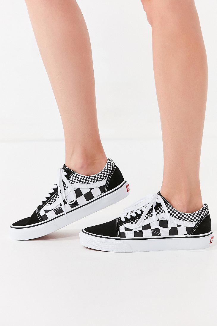 7c6aefc7bb Lyst - Vans Vans Mix Checkerboard Old Skool Sneaker in Black