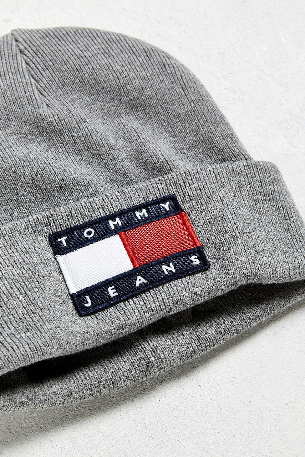 Lyst - Tommy Hilfiger Tommy Jeans For Uo  90s Beanie in Gray for Men 798d88a5e75