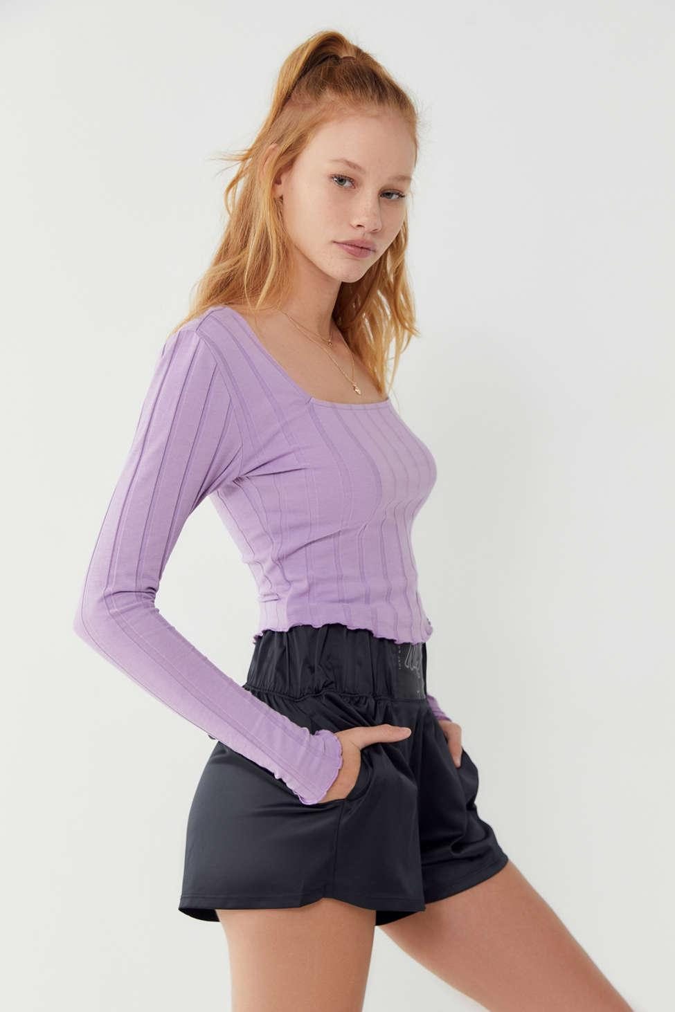 d0ebbfb863 Lyst - Urban Outfitters Uo Mabel Lettuce-edge Square Neck Top in ...