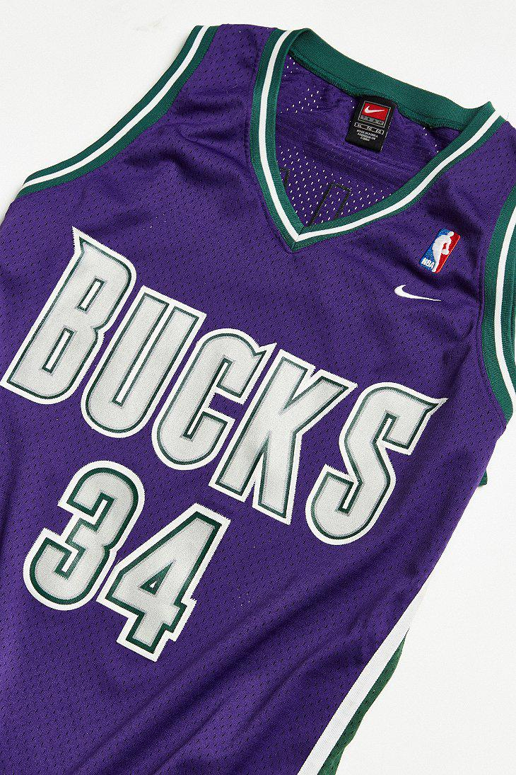 Lyst - Urban Outfitters Vintage Nike Ray Allen Milwaukee Bucks ... 3a1837373