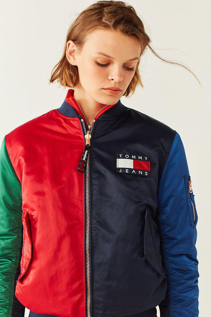 Lyst Tommy Hilfiger Tommy Jeans 90s Reversible Bomber Jacket In Blue
