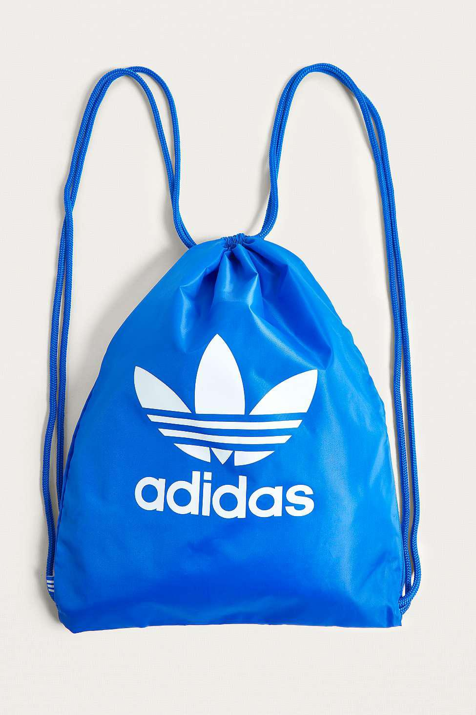 0674d7e4a adidas Originals Blue Trefoil Gym Sack - Womens All in Blue - Lyst