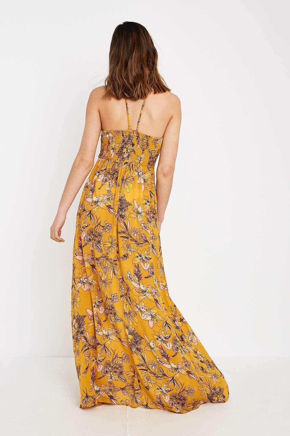 783671687fe8 Free People - One Step Ahead Yellow Floral Maxi Dress - Womens S - Lyst.  View fullscreen