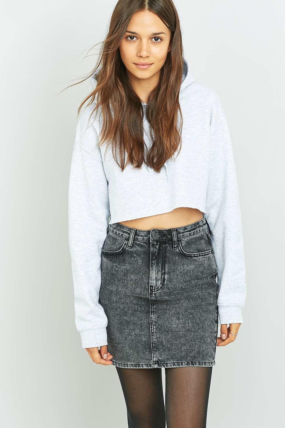 Grey Denim Skirt 115