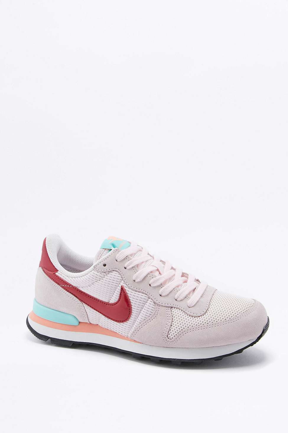 nike internationalist pink and red trainers in multicolour. Black Bedroom Furniture Sets. Home Design Ideas