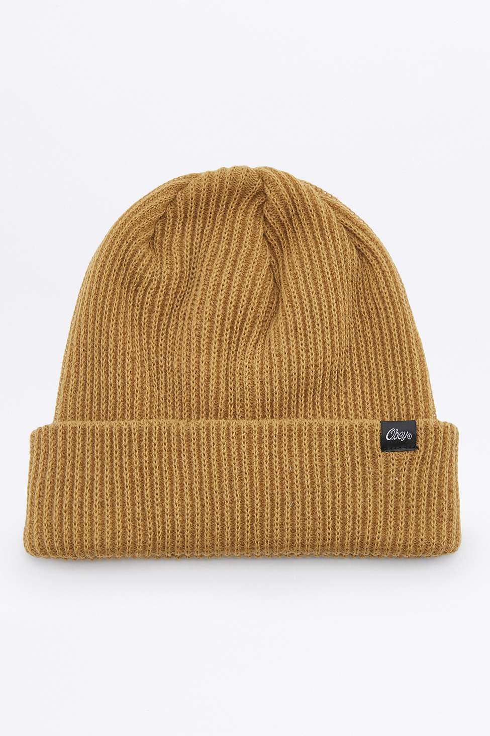 102f2807a24ff Obey Caster Gold Beanie in Natural for Men - Lyst