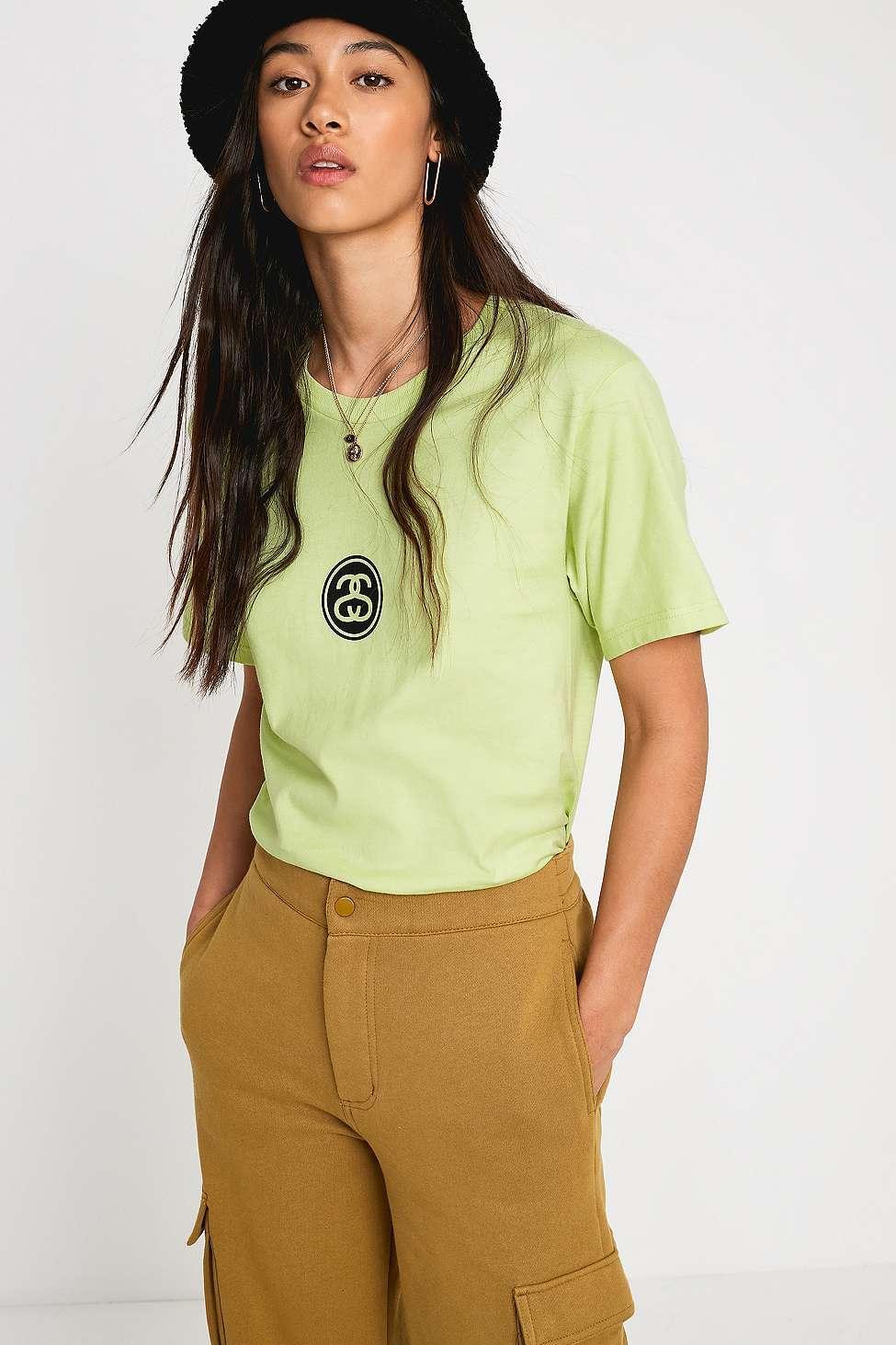683b0966b Stussy Link Pale Green T-shirt - Womens Xs in Green - Lyst