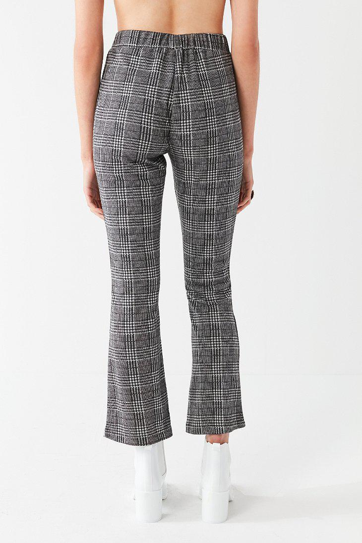 659c23b639d5 Lyst - Urban Outfitters Uo High-rise Plaid Kick Flare Pant in Black