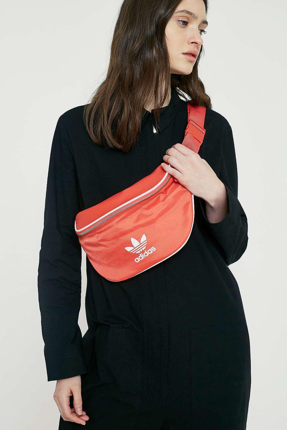 9a367af31f70 adidas Originals Red Logo Crossbody Bag - Womens All in Red - Lyst