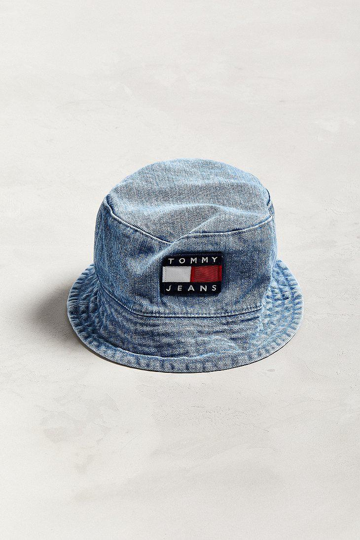 c0c83258 Tommy Hilfiger Tommy Jeans '90s Sailing Denim Bucket Hat in Blue for ...