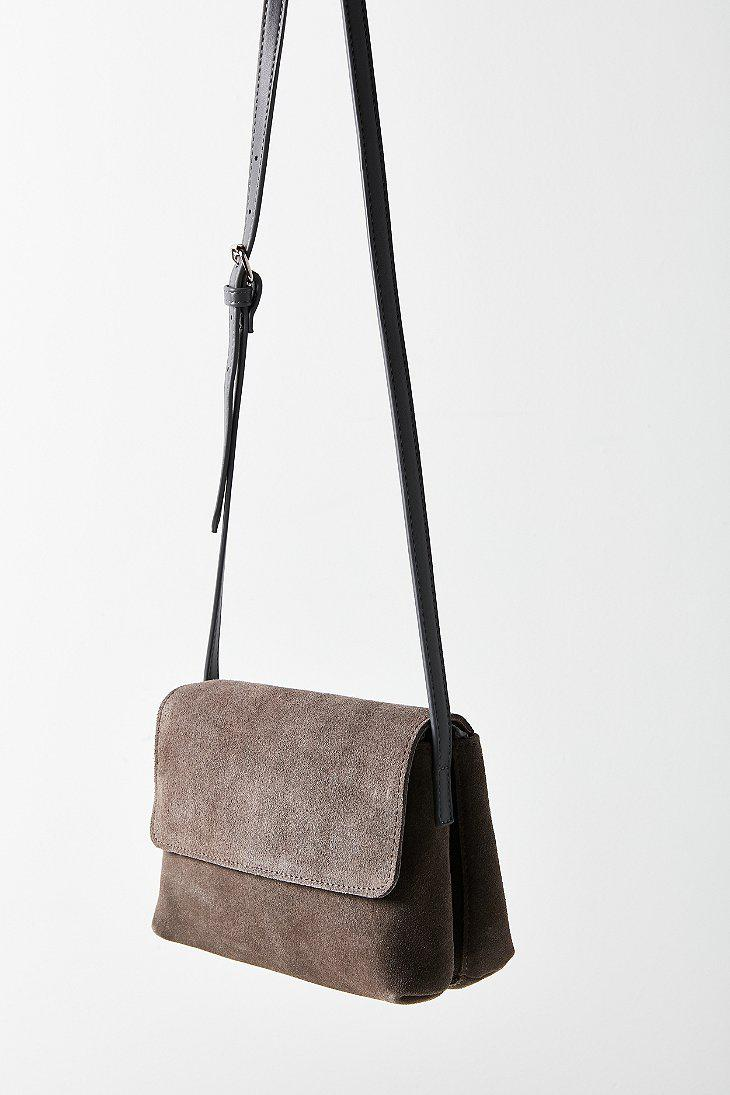 Lyst - Urban Outfitters Margot Suede Crossbody Bag in Gray e6ba6bbd41470