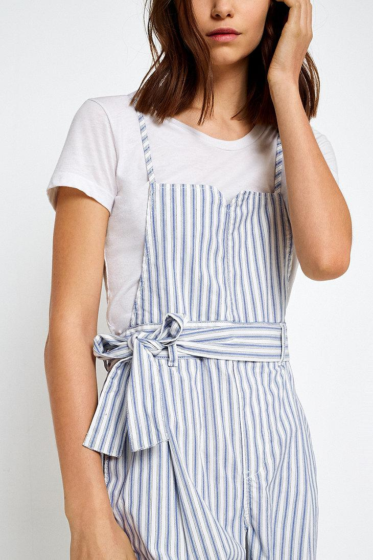 78ce13d3727b Free People Isabelle Striped Jumpsuit in Blue - Lyst