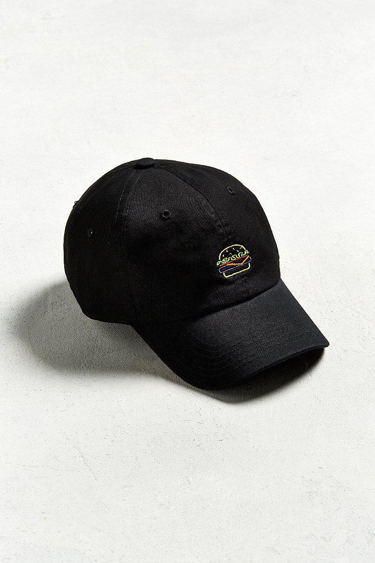 Lyst - Urban Outfitters Uo Neon Burger Baseball Hat in Black for Men 055c7cebc311