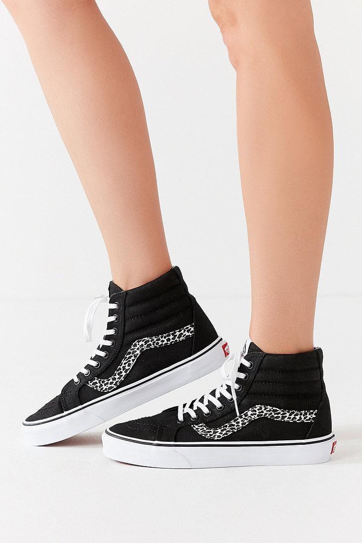 91449e36cc Vans Vans Mini Leopard Sk8-hi Reissue Sneaker in Black - Lyst