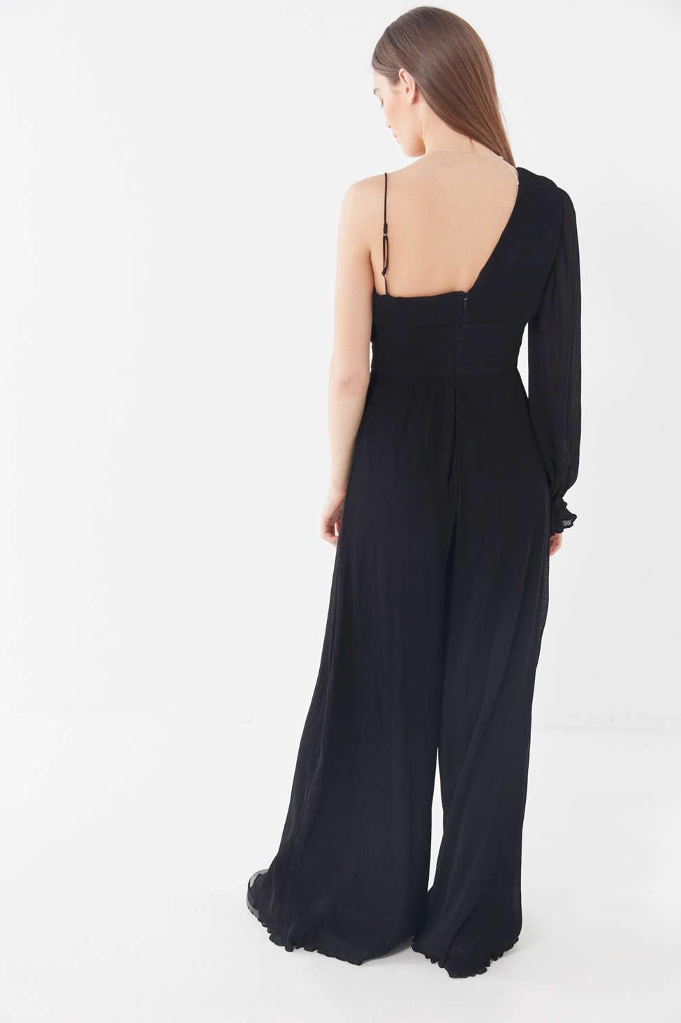 99c9e027eb79 Lyst - Keepsake Clarity One-shoulder Wide Leg Jumpsuit in Black