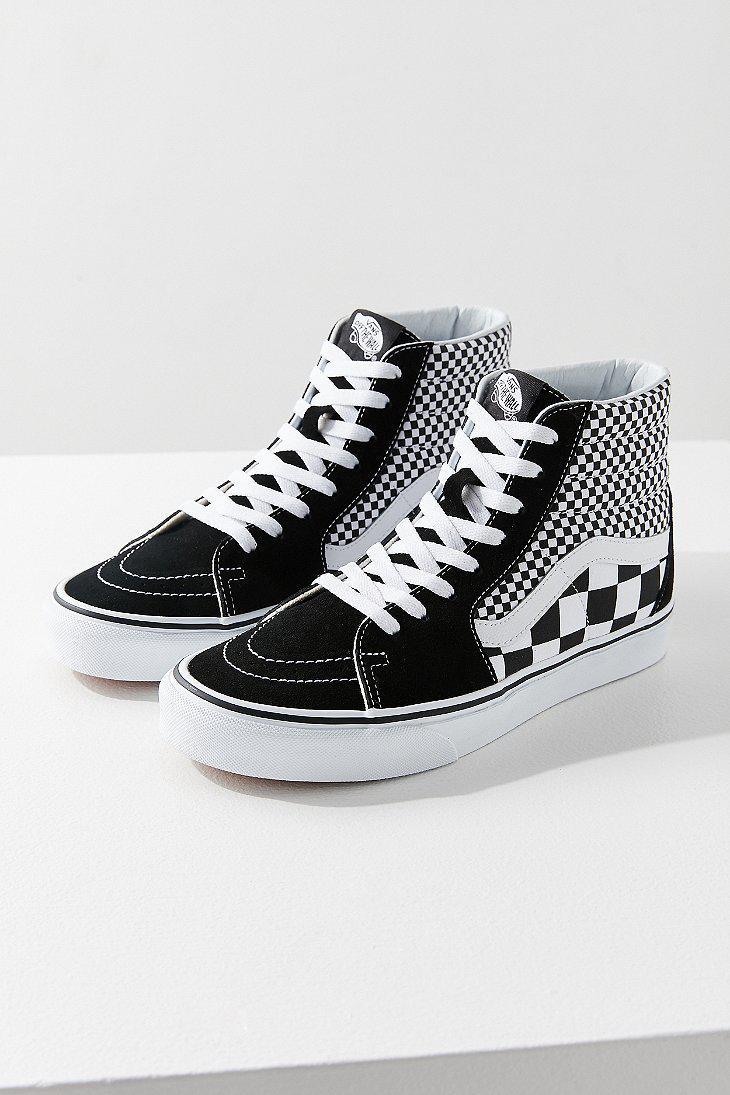 Lyst - Vans Vans Mix Checkerboard Sk8-hi Sneaker in Black f1e29a5b5