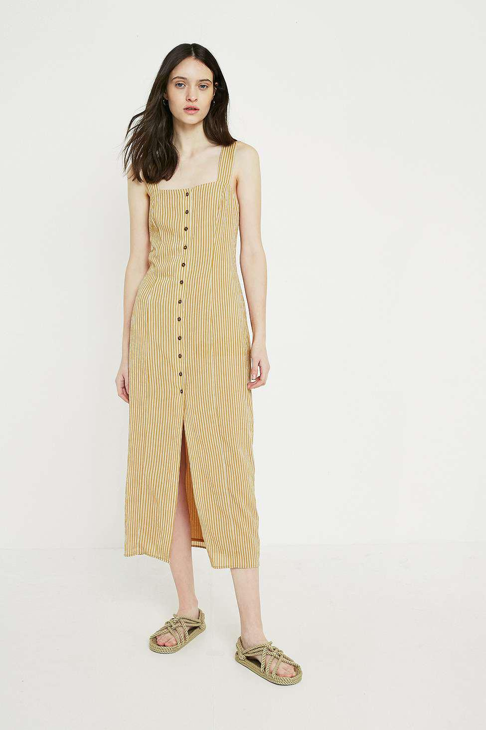 1d9c2d4b838b The East Order Yarrow Yellow Midi Dress - Womens Xs in Yellow - Lyst