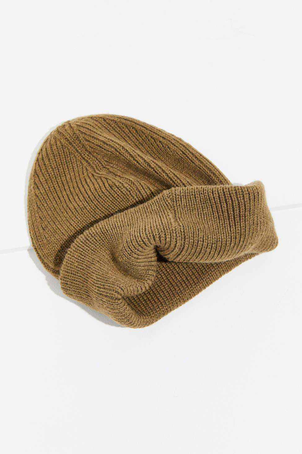 213c0f3eb7554 Lyst - Urban Outfitters Tall Basic Fisherman Beanie in Green