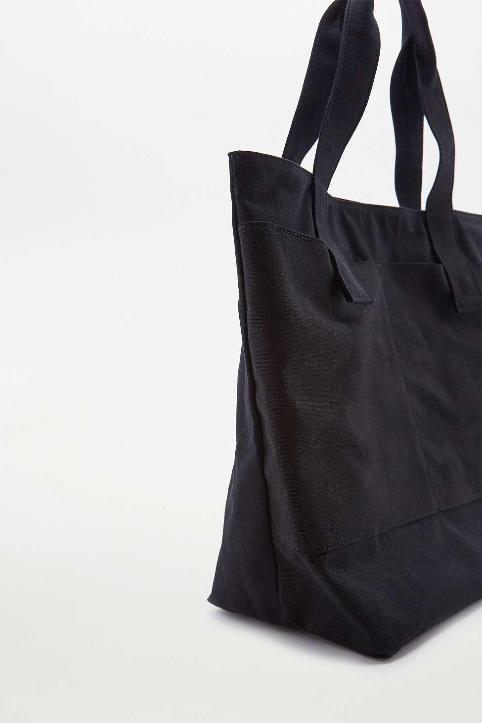 edd1d49d6c7 Urban Outfitters Oversized Black Canvas Tote Bag - Womens All in ...