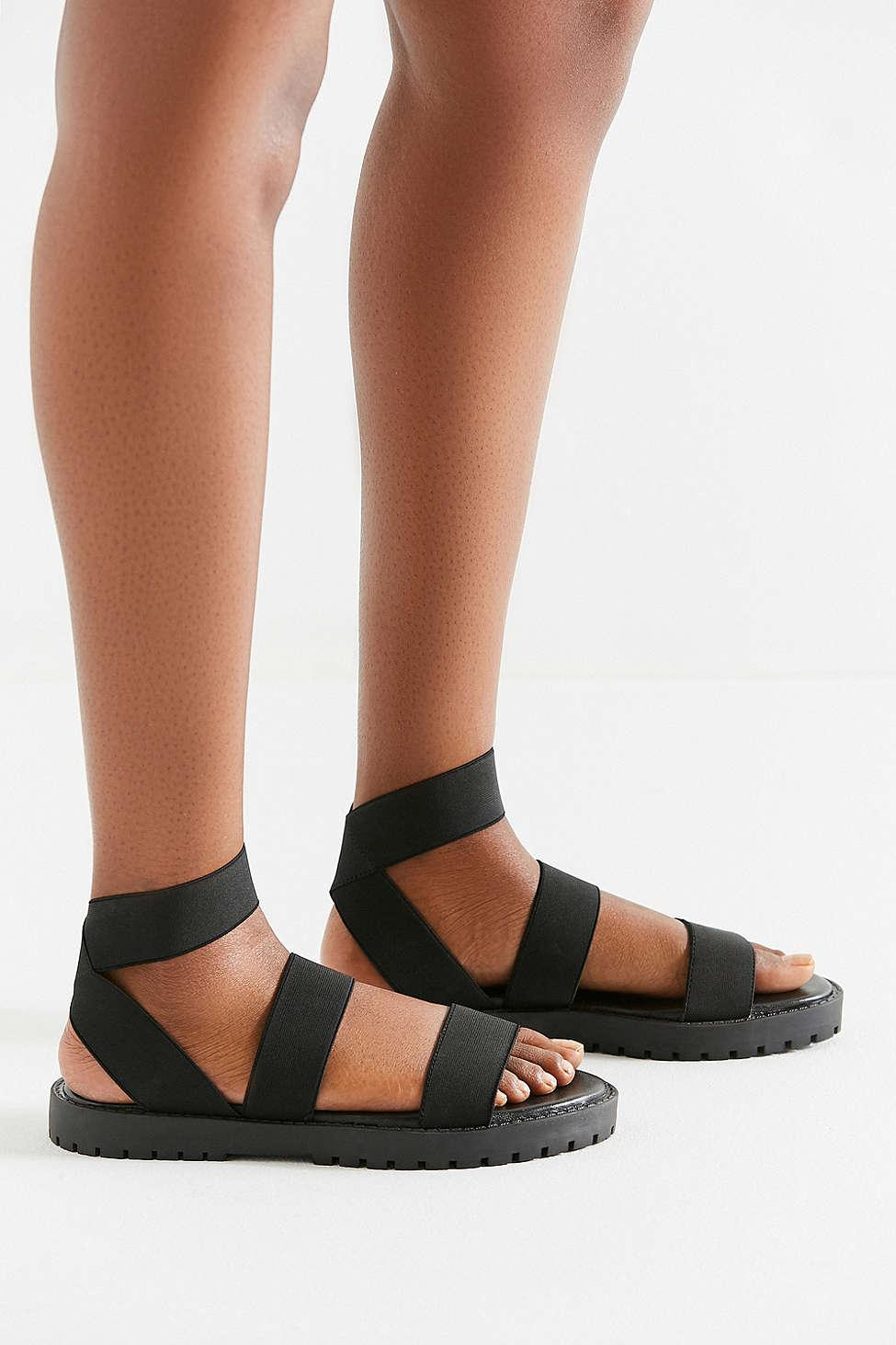 a6e85c5efd4e Lyst - Urban Outfitters Dani Elastic Gladiator Sandal in Black