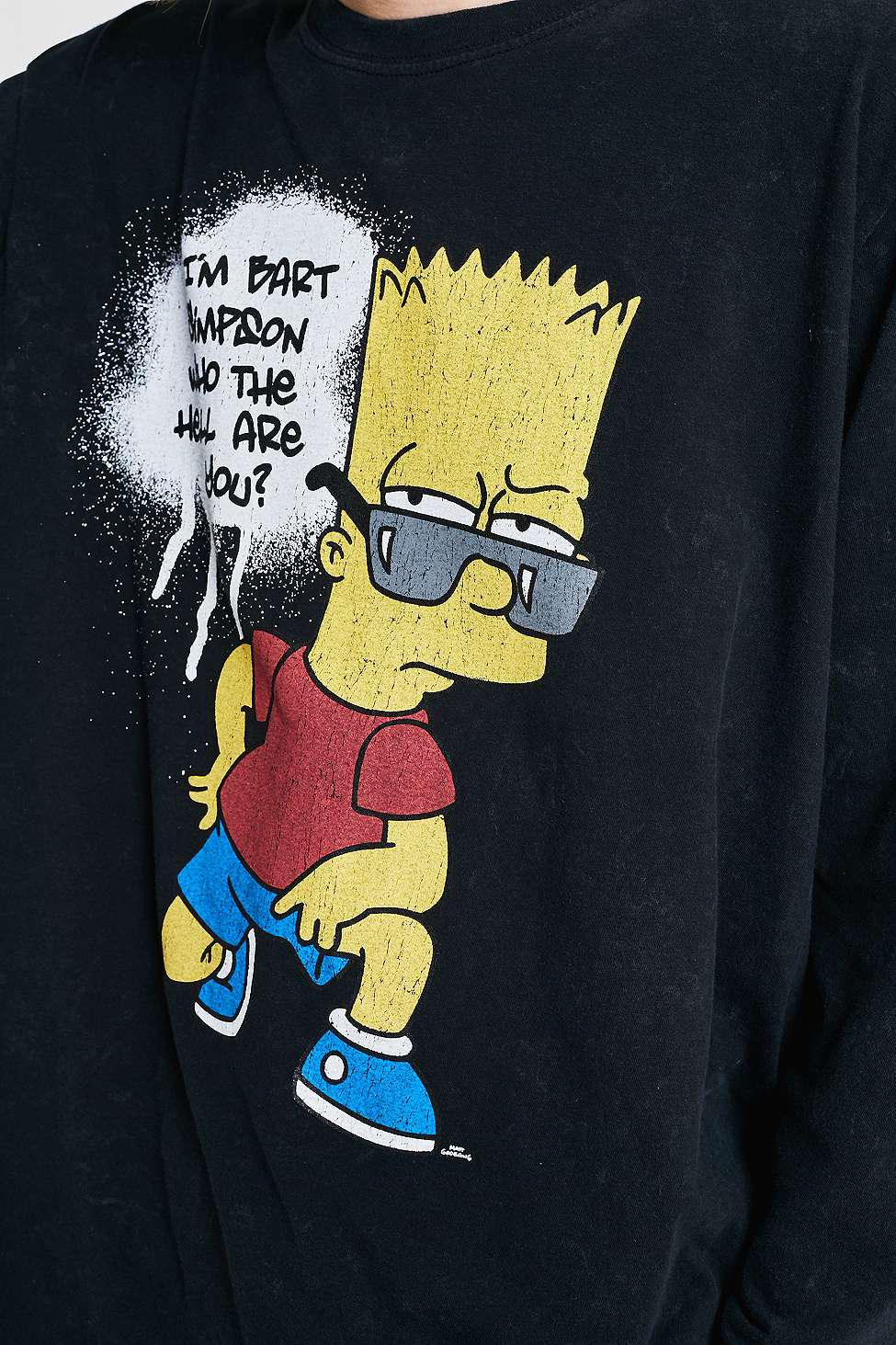 993397cbe Urban Renewal Vintage Remnants Bart Simpson Long-sleeve T-shirt ...