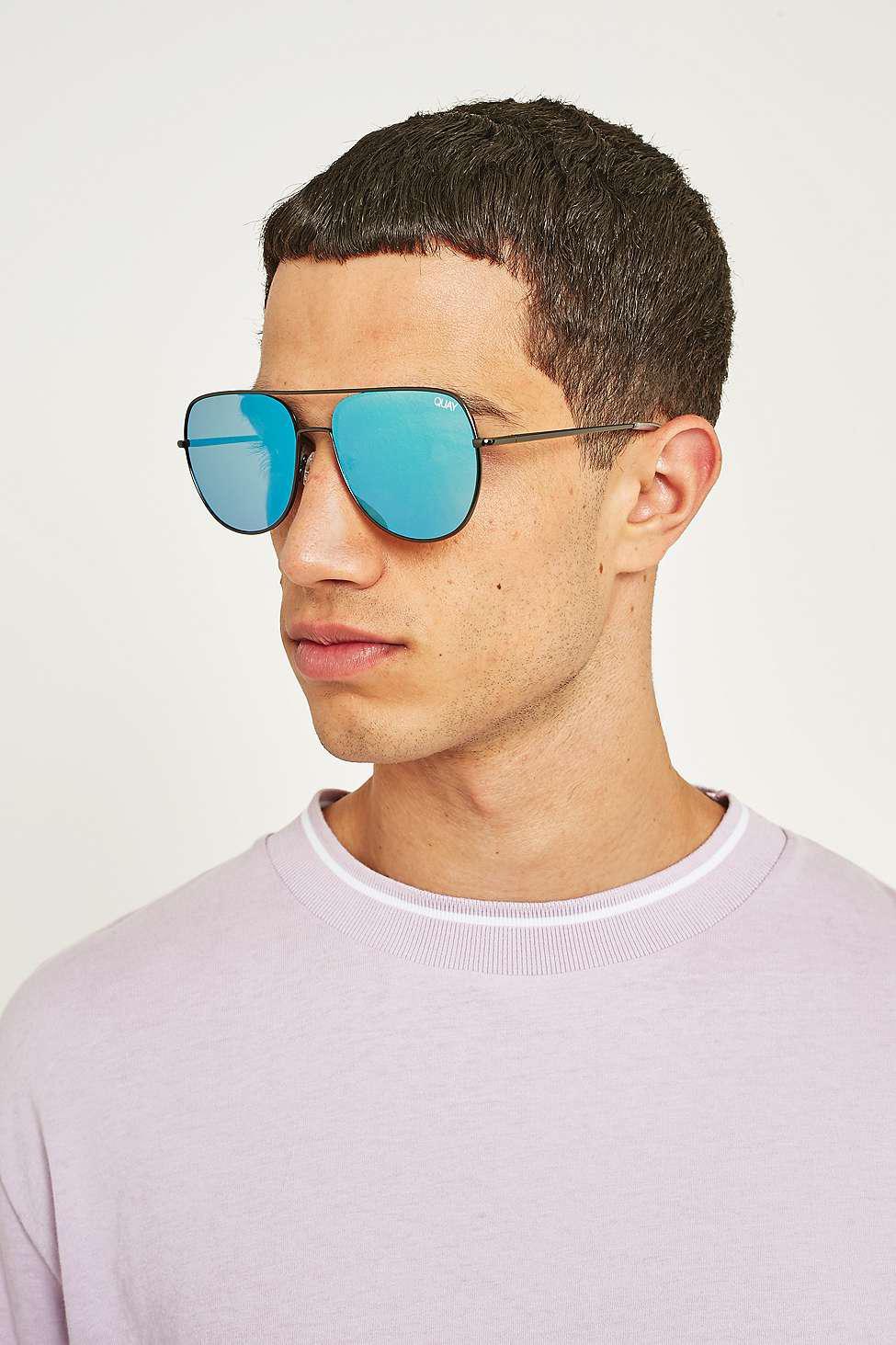 19d80cfefe6 Quay Living Large Blue Lens Sunglasses - Mens All in Gray for Men - Lyst