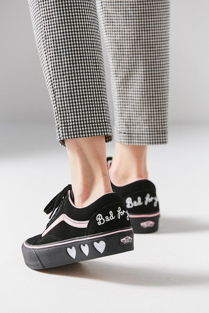 308785a55b1 Lyst - Vans Vans X Lazy Oaf Old Skool Platform Sneaker in Black
