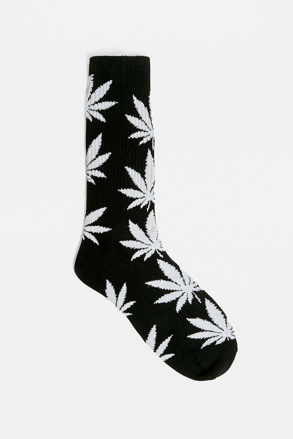 e3fbea39cdd2a Huf Plantlife Black Socks - Mens All in Black for Men - Lyst