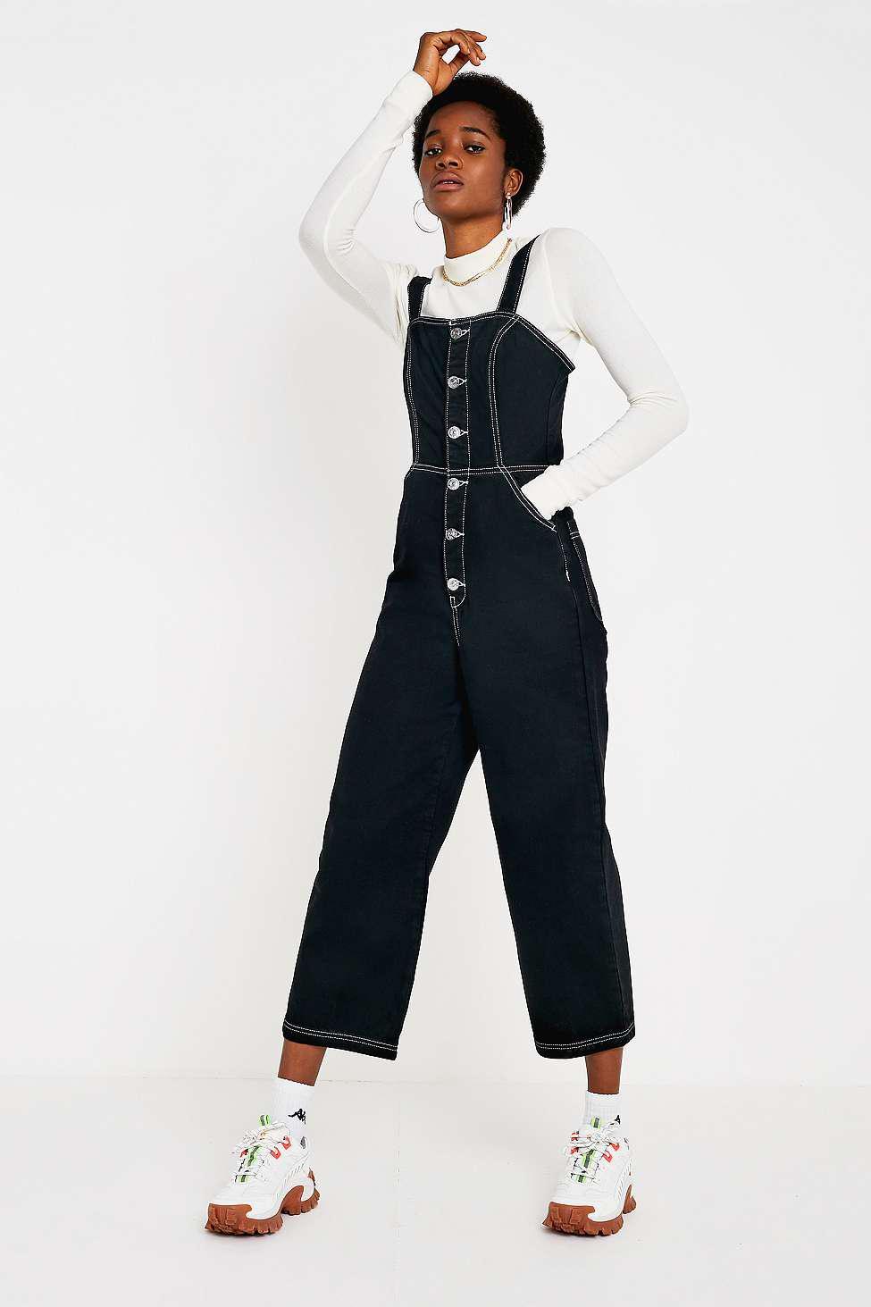 54fa58b1b2 BDG Button-through Jumpsuit - Womens Xs in Black - Lyst