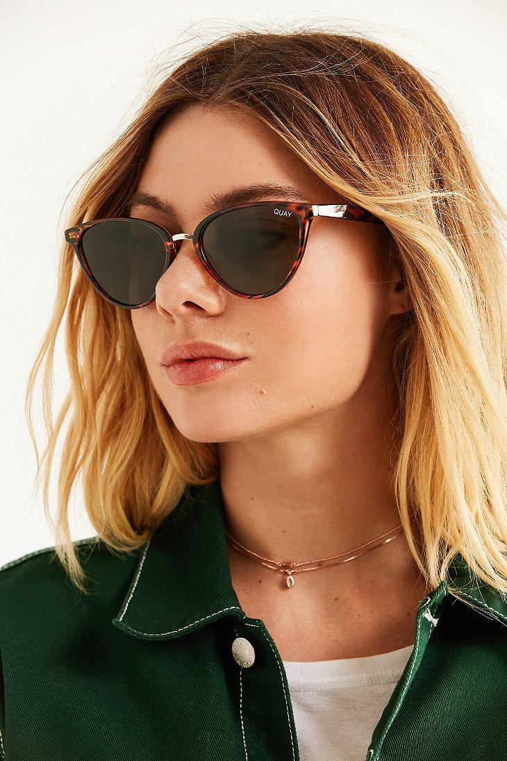 fd5919ee89a5f Quay Rumors Cat-eye Sunglasses in Brown - Lyst