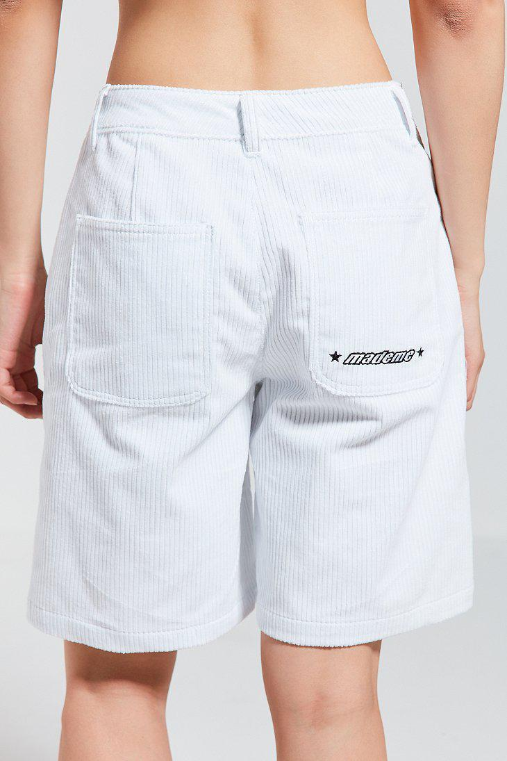368735a4ee28 Lyst - Converse Converse X Mademe Oversized Corduroy Short in White