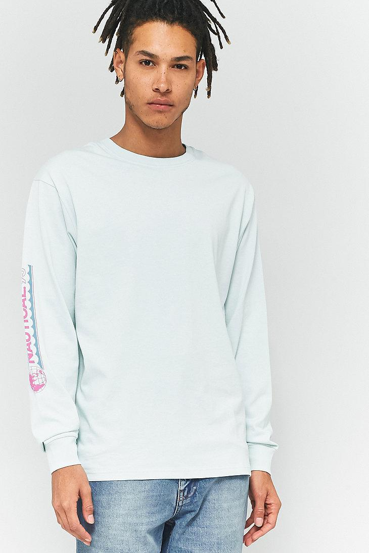1639cd24 Urban Outfitters Uo Nautical Mint Long-sleeve T-shirt for Men - Lyst