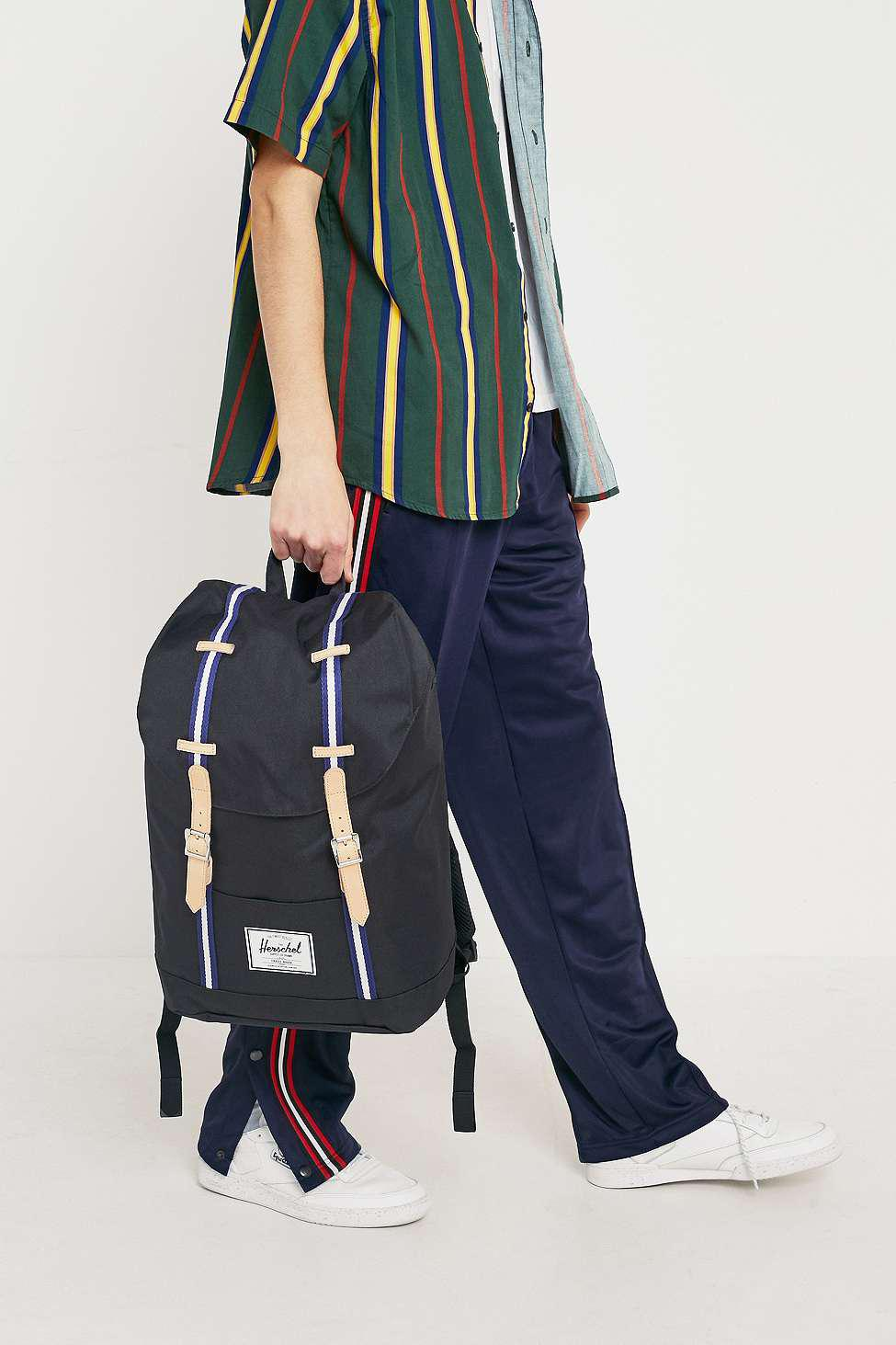 3cd8e9a396 Herschel Supply Co. - Retreat Ofst Black And Blue Backpack - Mens All for  Men
