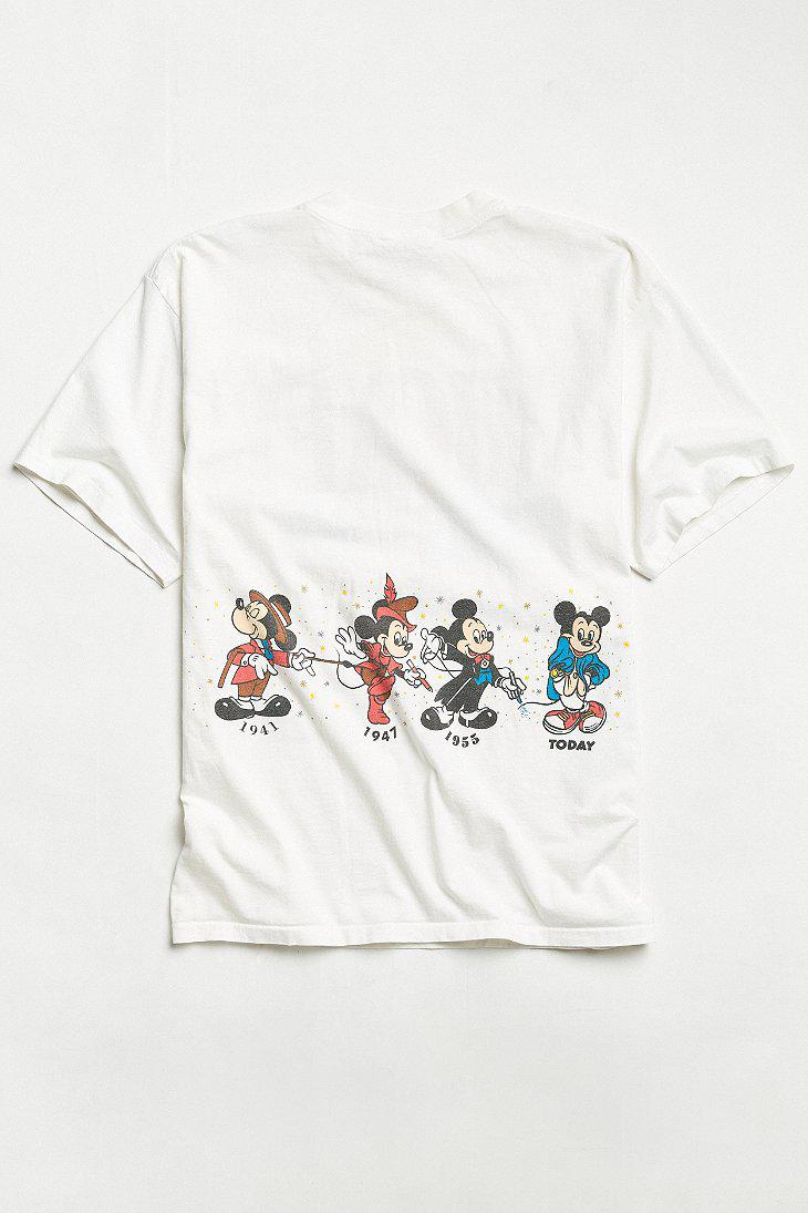 Lyst - Urban Outfitters Vintage Disney Mickey Mouse Years Tee in ... b544e21a7