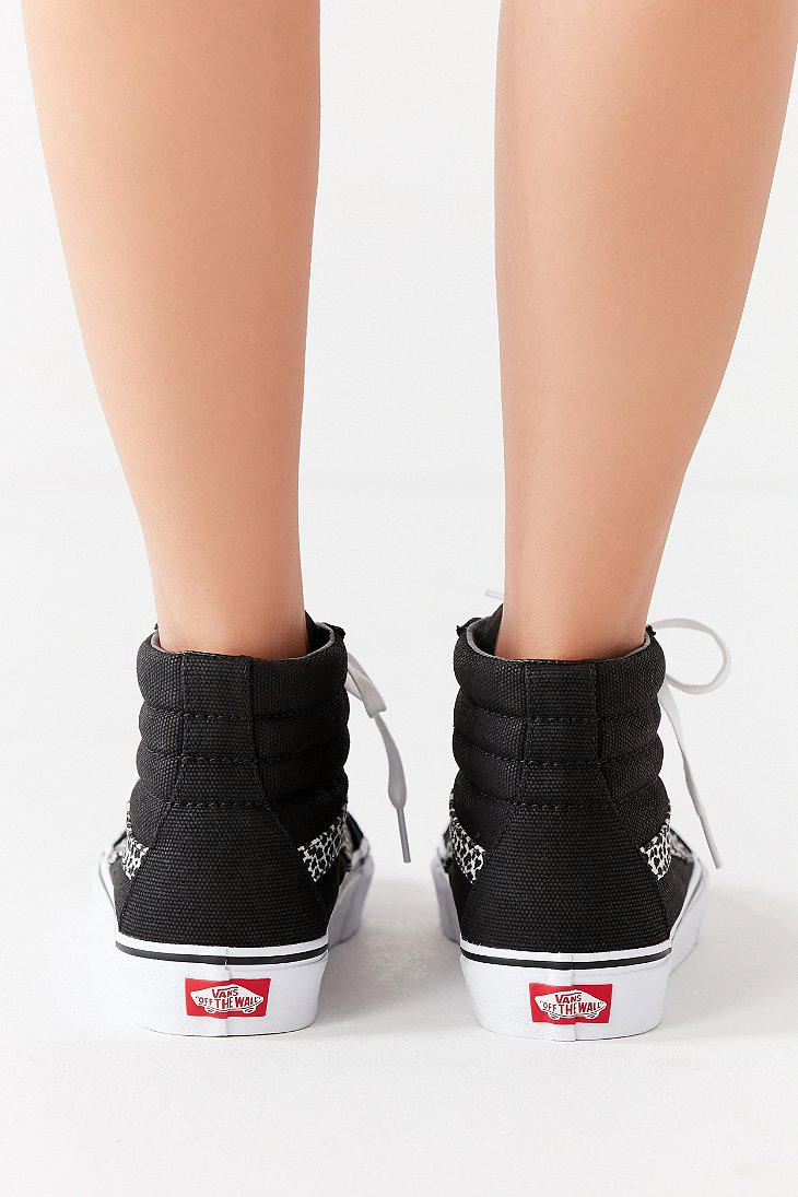 5c1084a54a17 Vans Vans Mini Leopard Sk8-hi Reissue Sneaker in Black - Lyst