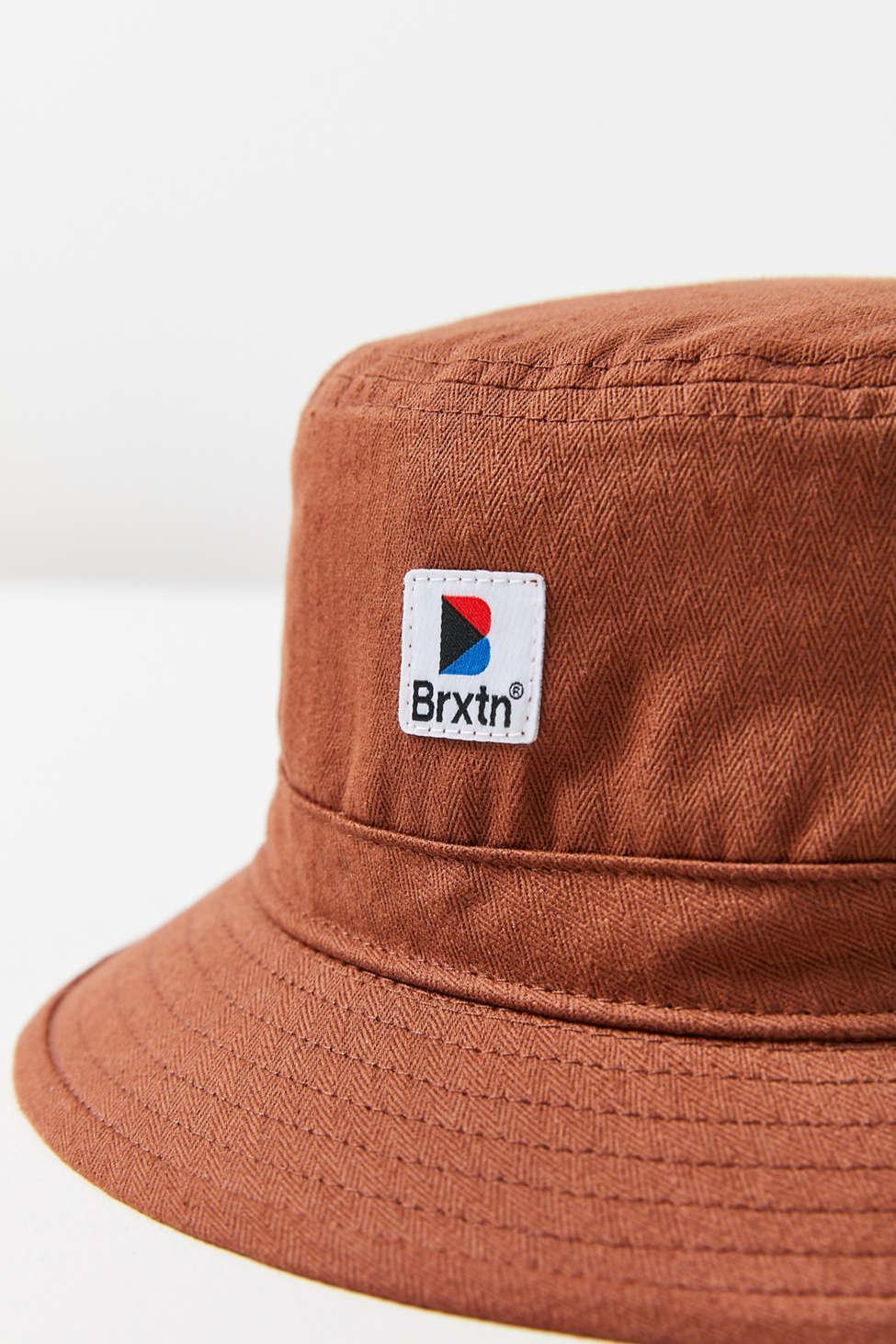 e7aa7fa713937 Brixton - Brown Stowell Bucket Hat - Lyst. View fullscreen