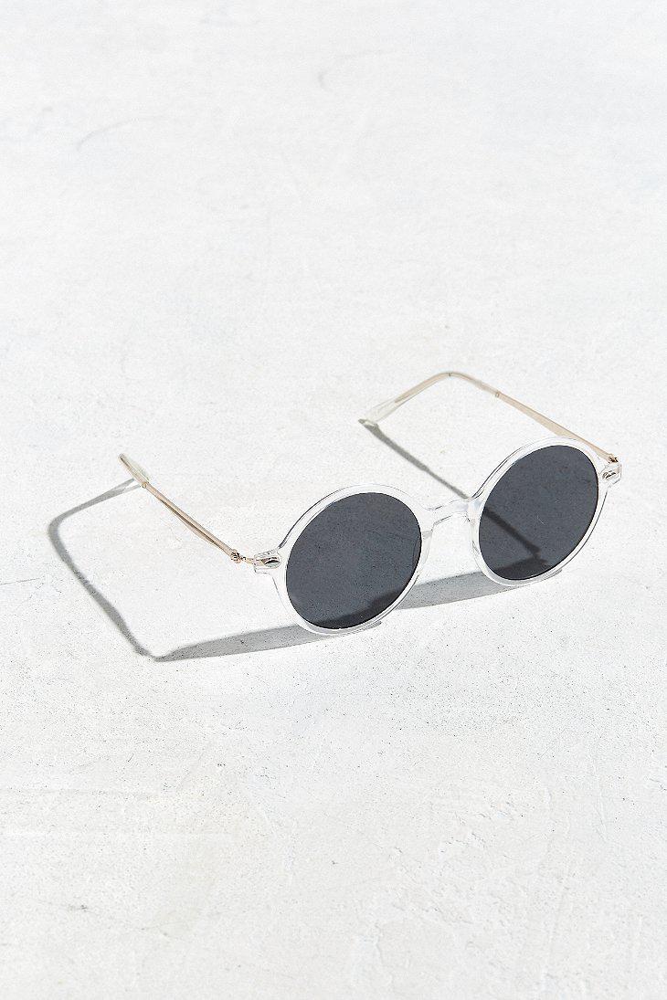 d81174eb490 Urban Outfitters Uo Retro Leon Round Sunglasses in Black for Men - Lyst