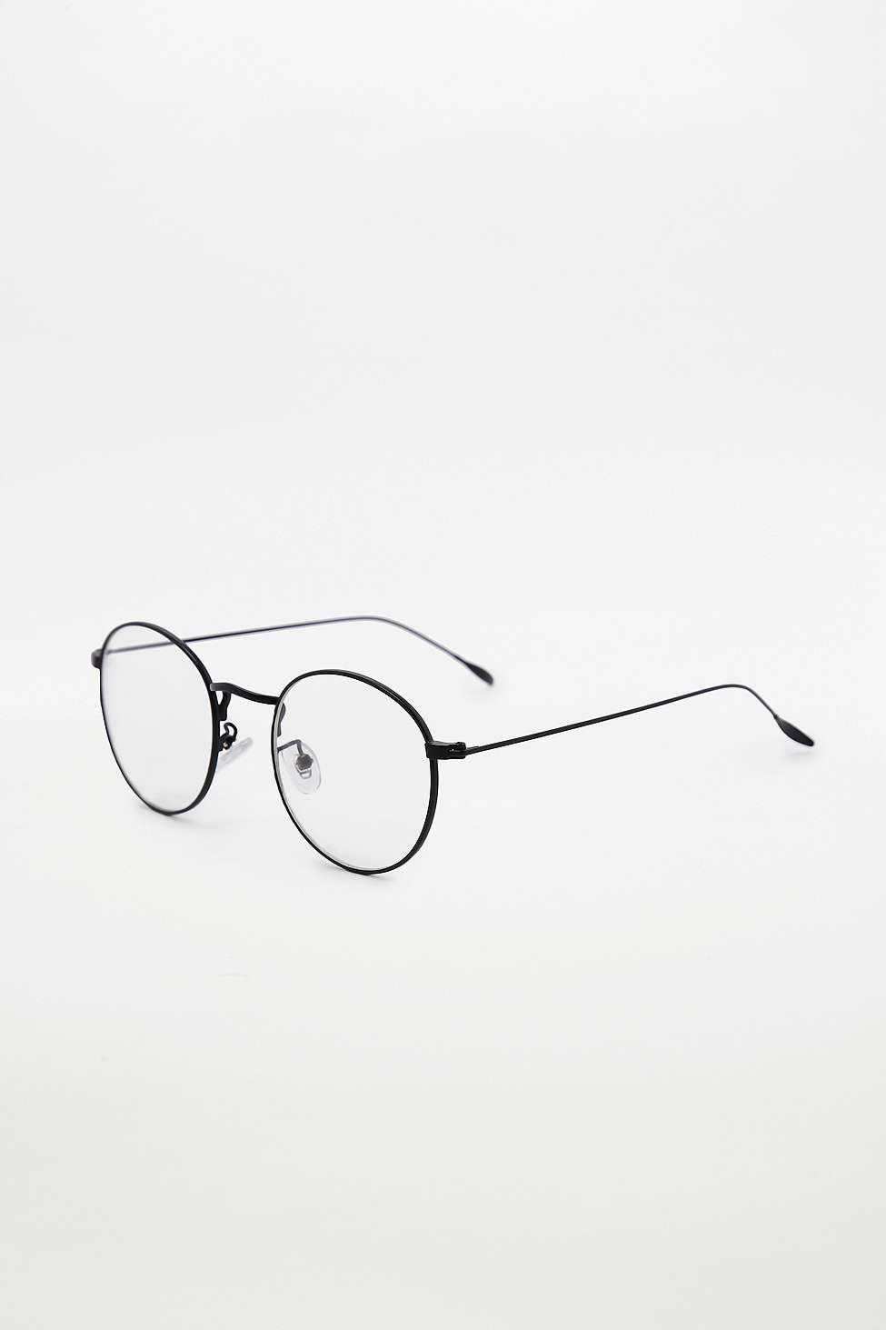 a12cf2a920b42e Urban Outfitters Round Metal Readers - Womens All in Black - Lyst