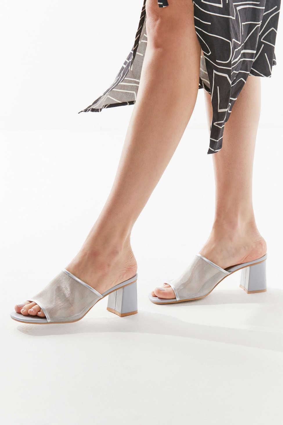 35d7ae55c583d7 Lyst - Urban Outfitters Uo Amanda Mesh Mule Sandal in Metallic