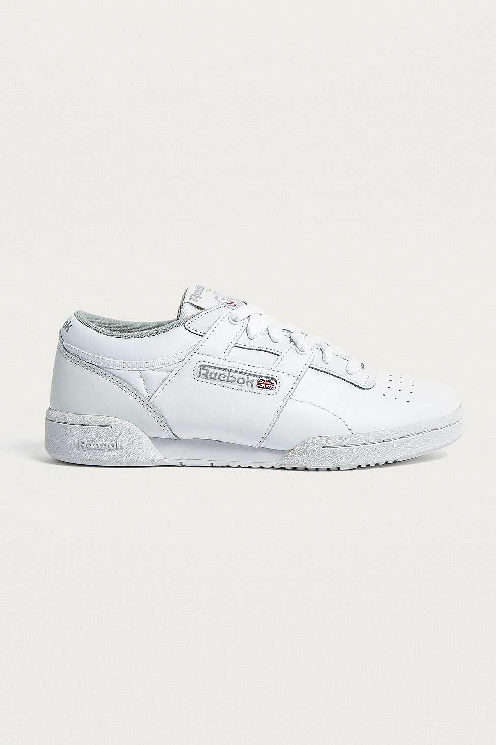 e333f7a8a7f Reebok Workout Lo White Trainers - Womens Uk 6 in White - Lyst