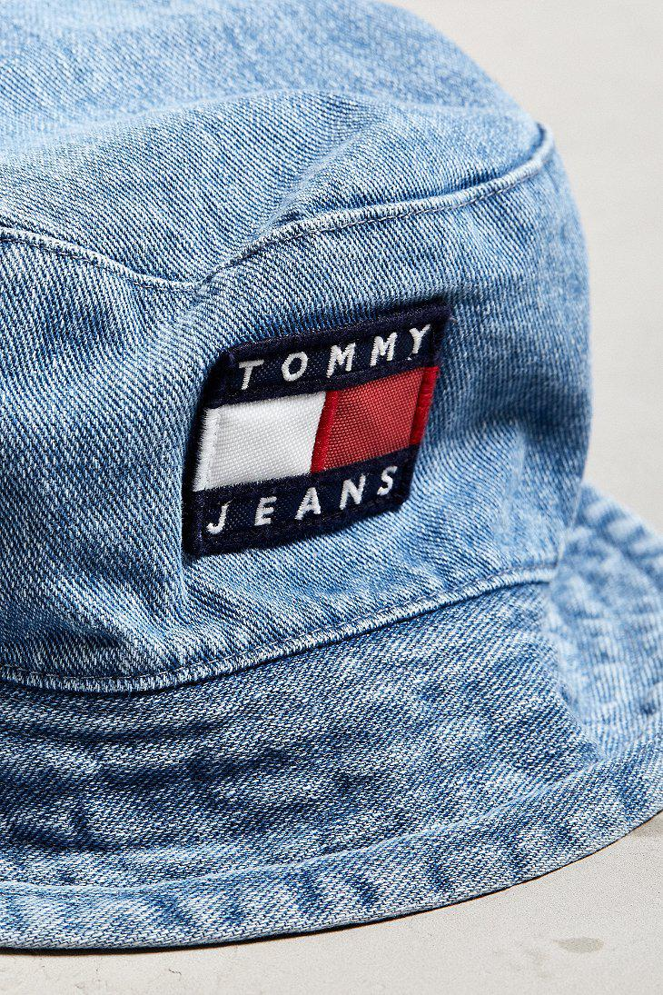Lyst - Tommy Hilfiger Tommy Jeans  90s Sailing Denim Bucket Hat in ... 2887eb238bd