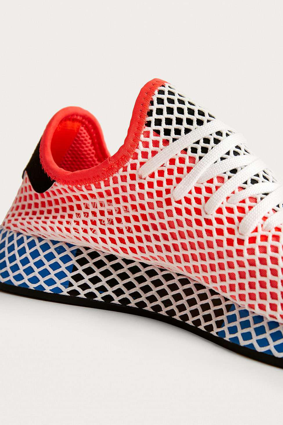 d0230b990be45 adidas Originals Deerupt Red Running Trainers - Womens Uk 8 in Red ...