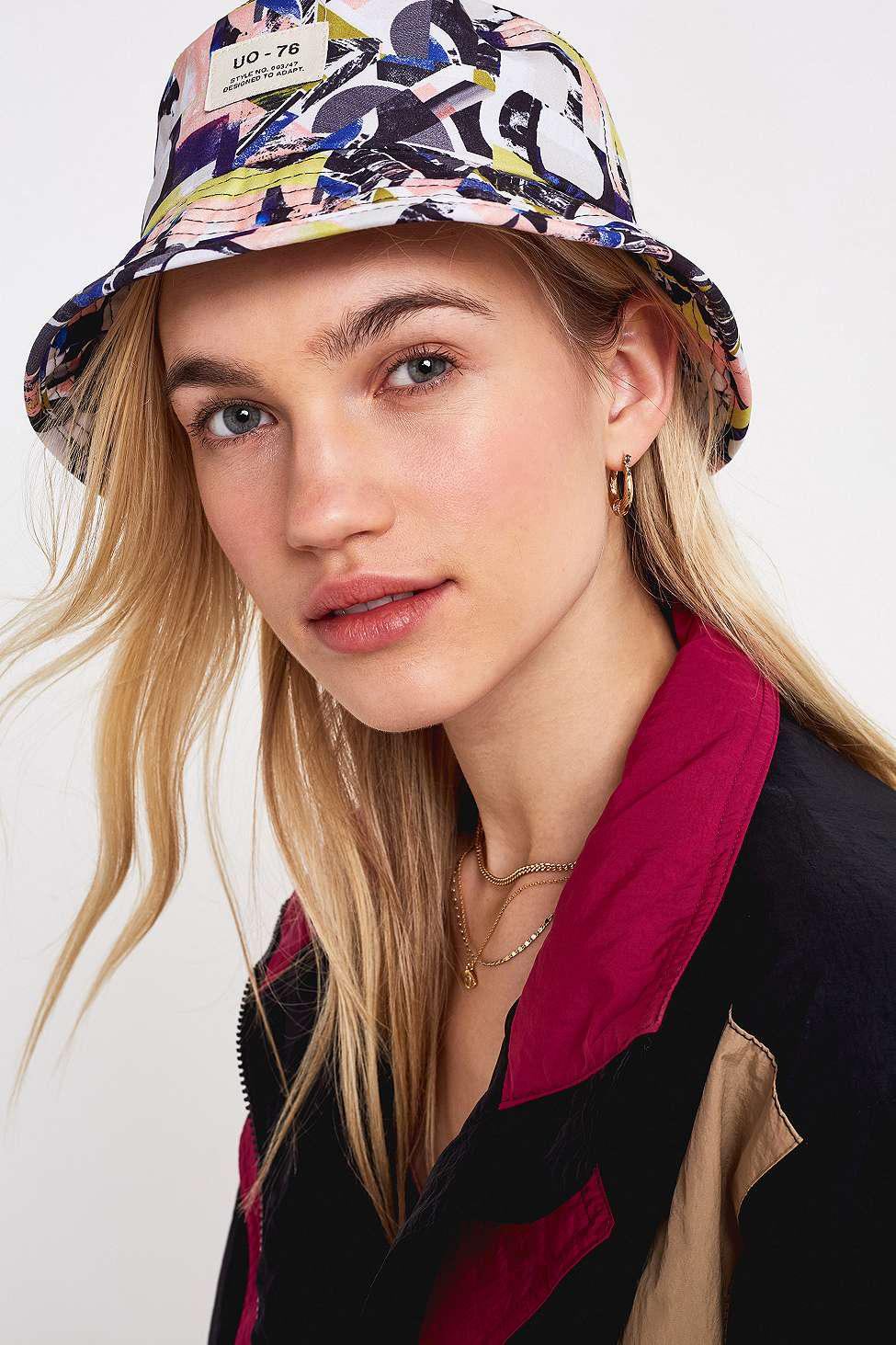 f84378c98a6 Urban Outfitters Uo  80s Printed Bucket Hat - Womens All - Lyst