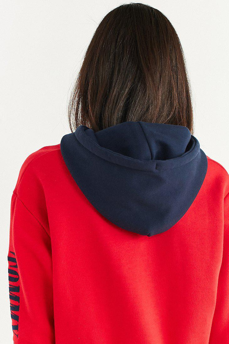 17fd93a1c39 Lyst - Tommy Hilfiger Tommy Jeans  90s Contrast Cropped Hoodie ...