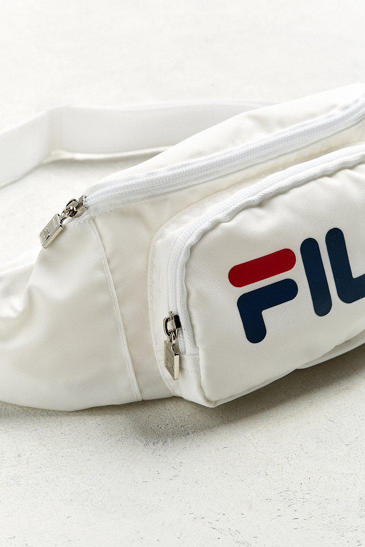 Lyst - Fila Fila Logo Sling Bag in White for Men 2a73807fce096